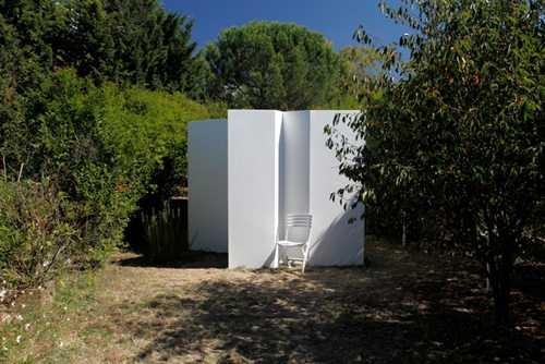 Didier Courbot dans les jardins de Saint-Fons