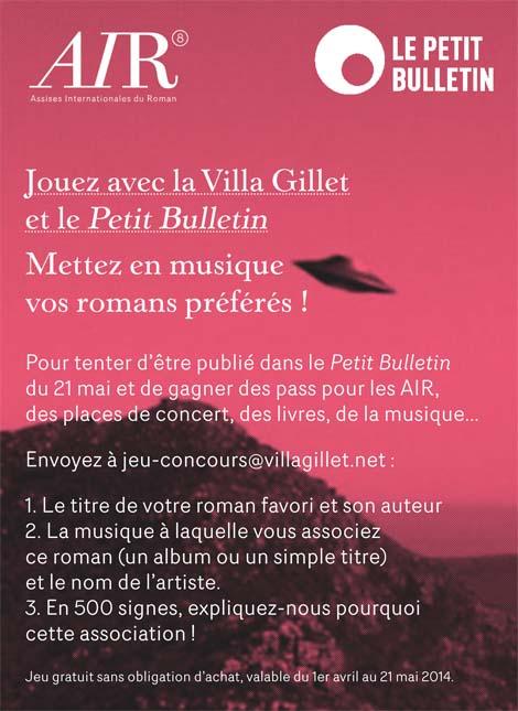 Jouez avec la Villa Gillet et le Petit Bulletin : Mettez en musique vos romans préférés !