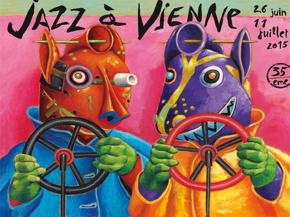 L'affiche de Jazz à Vienne 2015