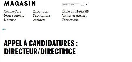 Art contemporain : le Magasin se cherche un nouveau directeur