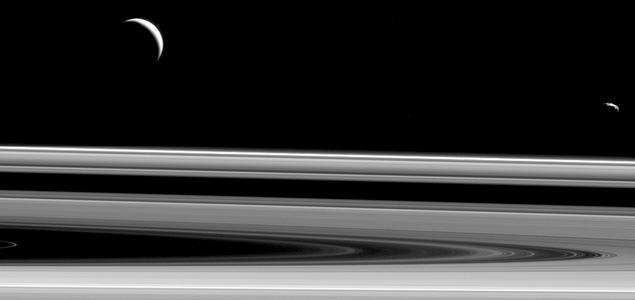 Aux abords de Saturne