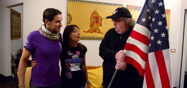 """Critique du film Where to invade next de et avec Michael Moore (E.-U., 2h) documentaire """"Where to invade next"""" : Michael Moore en plein coup de pompe CINEMA"""