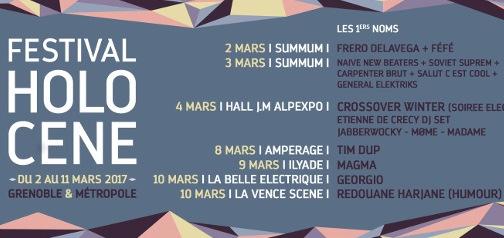 Holocène : un nouveau festival à Grenoble