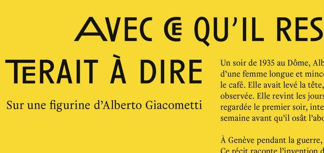 Anne Maurel sur les traces de Giacometti