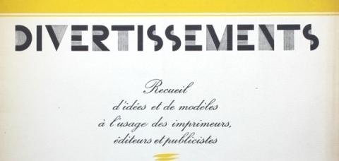Divertissements typographiques aux Archives Municipales