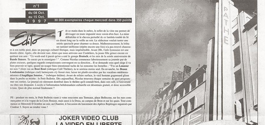 Relisez le premier numéro du Petit Bulletin Lyon !