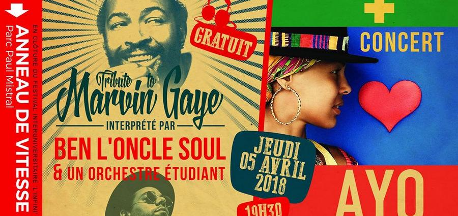 Tribute to Marvin Gaye + Ayo : et là, le Crous nous sort un double concert qui promet