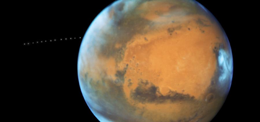 Phobos, sous l'oeil d'Hubble