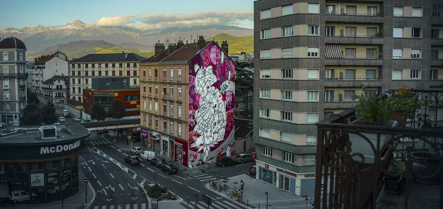La rue est vers l'art avec le Grenoble Street Art Fest