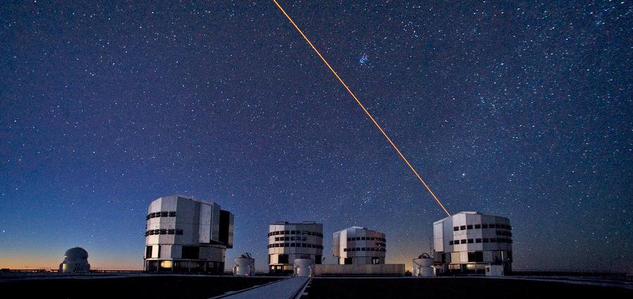 Étoile guide laser au V.L.T
