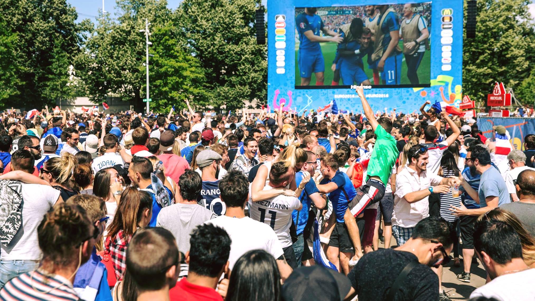 Un écran géant place Jean Jaurès pour retransmettre la finale