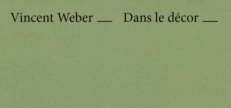 Vincent Weber, un pas de côté