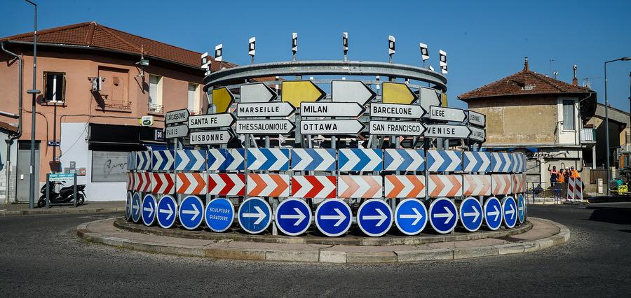 Le rond-point de l'Europe