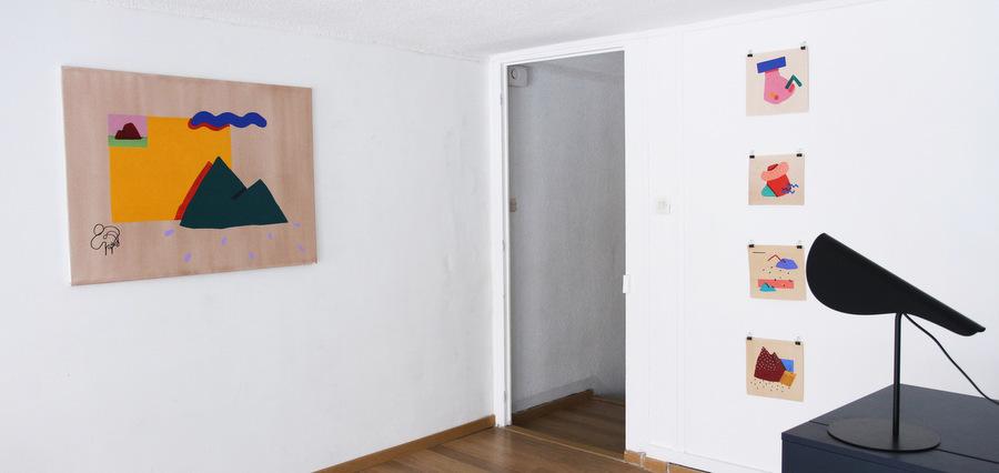 Peintures lo-fi et paysages pop à la nouvelle galerie Tracanelli