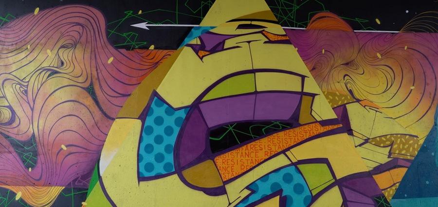 Reso signe une fresque rue Moncey