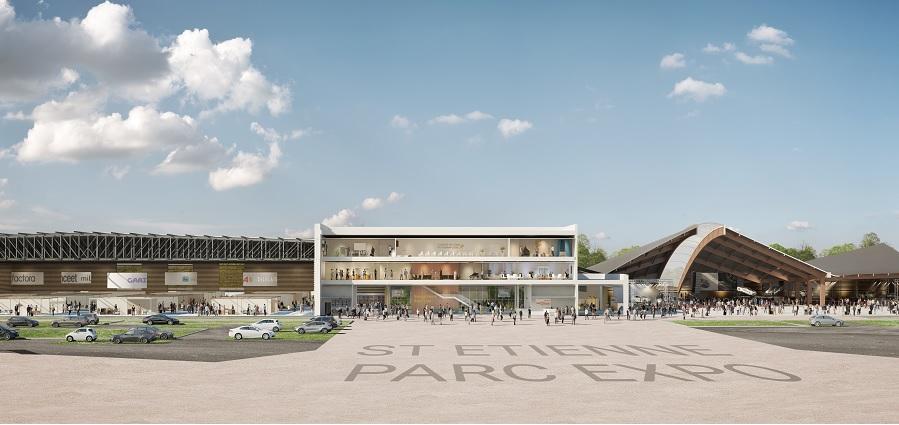 Une nouvelle vue du prochain Parc Expo de Saint-Étienne