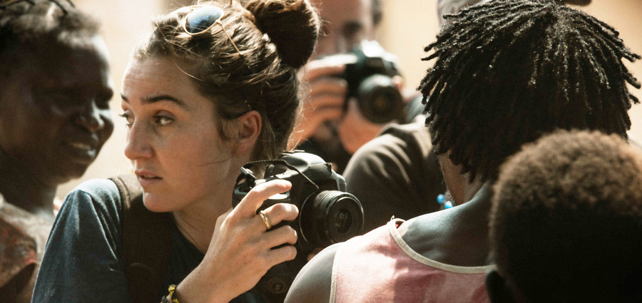 La femme à la caméra :