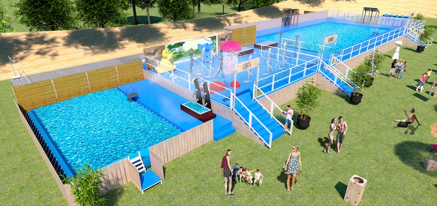 Une piscine éphémère s'installe au Vélodrome de la Tête d'Or cet été