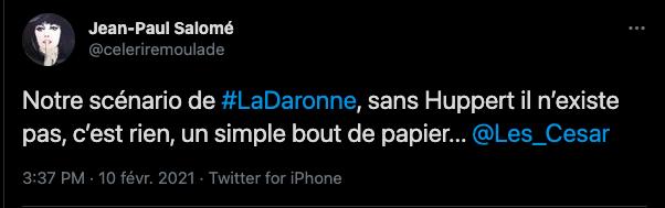 La Daronne, de Jean-Paul Salomé, 17e Prix Jacques-Deray