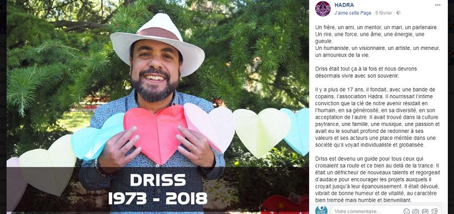 Un édito pour Driss Bouayad