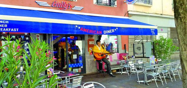 Emily's Diner restaurant terrasse Grenoble