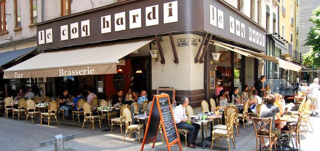 Le Coq Hardi restaurant terrasse Grenoble