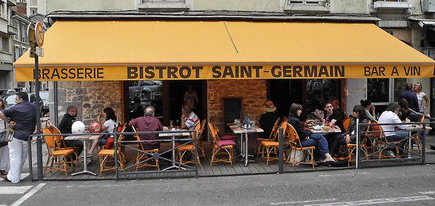 Le Saint Germain restaurant terrasse Grenoble