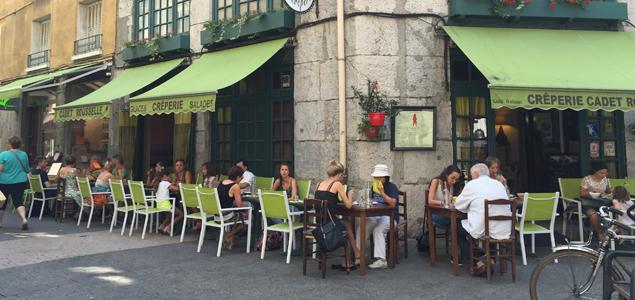 Le Cadet Rousselle restaurant terrasse Grenoble