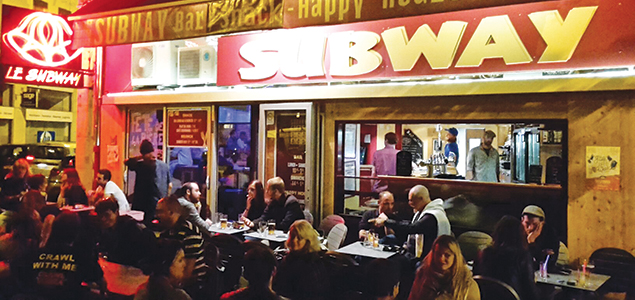 Le Subway restaurant terrasse Grenoble