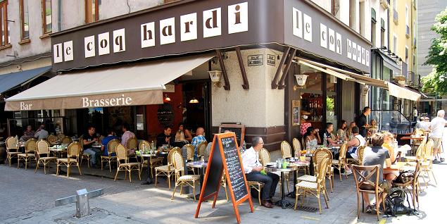 Coq Hardi  restaurant terrasse GRENOBLE