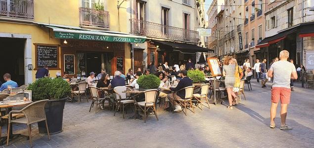 Pizzeria de Gordes restaurant terrasse GRENOBLE